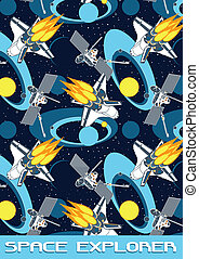 Space Explorer Illustrator swatch of repeat pattern included...