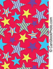 Stars and patterns. Illustrator swatch of repeat pattern...