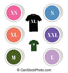 t-shirt button color vector illustration