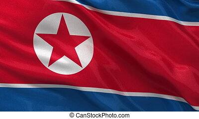 Flag of North Korea seamless loop