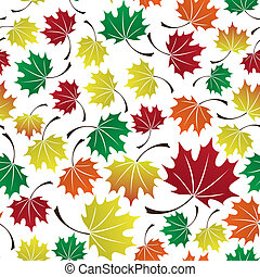 colorful leaves seamless pattern eps10
