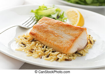 Pan Seared Fish - A delicious pan seared white fish with...