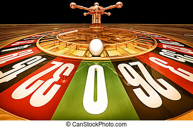 casino - high resolution 3D rendering of a roulette