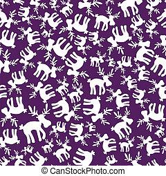 christmas reindeer violet pattern eps10