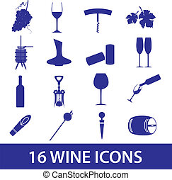 wine icon set eps10