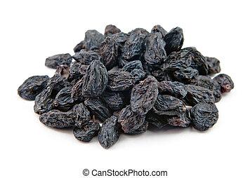 blue raisin - heap of blue raisin isolated on white