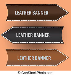 leather banners eps10