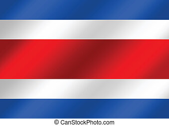 National flag of Costa Rica themes