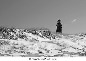 Lighthouse at the Baltic Sea - Lighthouse at Darsser Ort,...