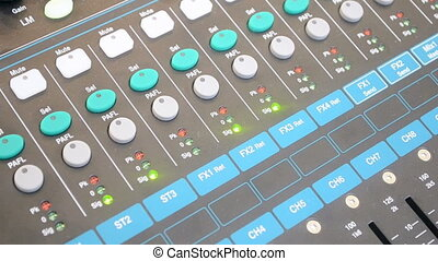 recording studio, control panel - audio control panel,...