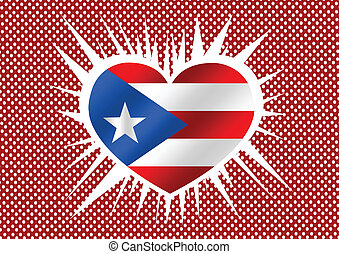 Puerto Rico flag themes idea design