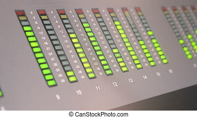 audio control panel, broadcasting - audio control panel with...