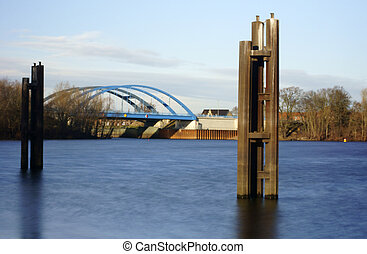 Road bridge - The photograph of a road bridge over the river...