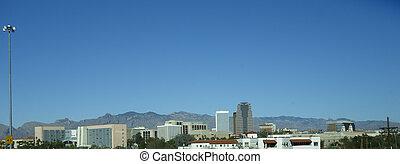 Panorama of Tucson downtown, AZ