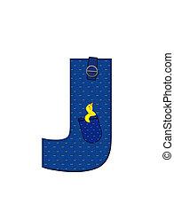 Alphabet Farmer Brown J - The letter J, in the alphabet set...