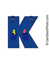 Alphabet Farmer Brown K - The letter K, in the alphabet set...