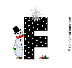 Alphabet Frosty F - The letter F, in the alphabet set...