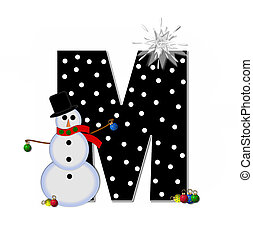 Alphabet Frosty M - The letter M, in the alphabet set...