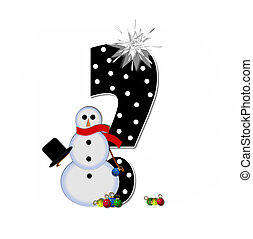 Alphabet Frosty Question Mark - Question mark, in the...