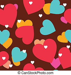 Hearts seamless background vector illustration