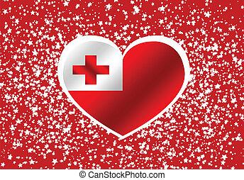 Flag of Tonga themes idea design