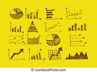 hand doodle Business Graph charts