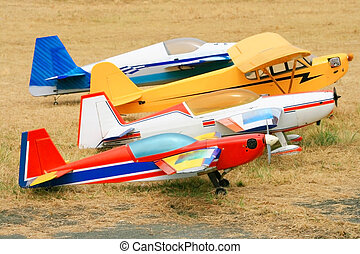 rc airplanes - big and colorful remote controlled airplanes...