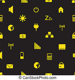 laptop and pc indication icons pattern eps10 - laptop and pc...