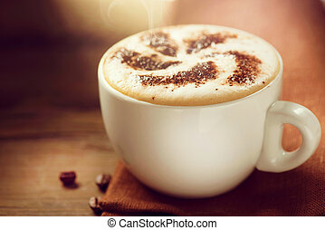Cappuccino Cup of Cappuccino or Latte Coffee