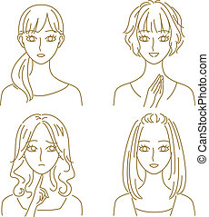 Women expressions - women expressions, vector file