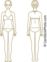Woman body, model - woman body, model, vector file