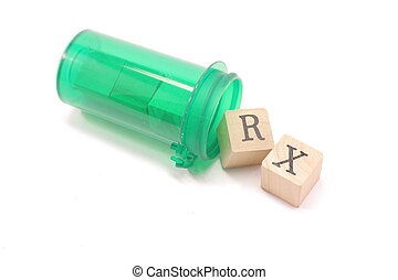 RX Pill Blocks - Home made blocks spell RX spilling out of...