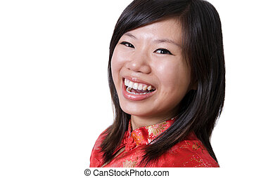 Great smile - Young Asian girl having a great smile