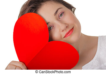 Girl with Valentine's Day Card