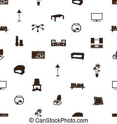 living room pattern eps10