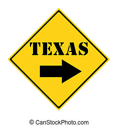 Texas that way Sign