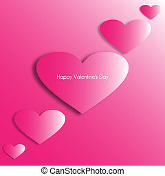 Romantic background with hearts for Valentine s Day