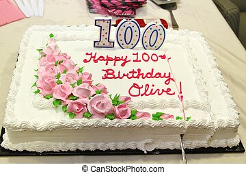 Birthday cake for a 100 year old