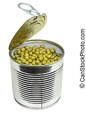 Can with green peas