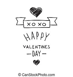 Handdrawn Valentines Day design elements