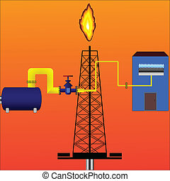 Natural gas - Vector natural gas production and its delivery...