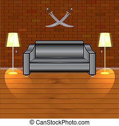 Room - Vector illustration of the interior of the room