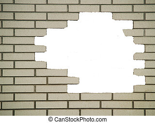 Hole in the White Brickwall