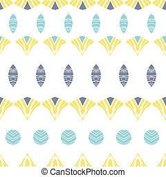 Abstract tribal shapes stripes seamless pattern background -...