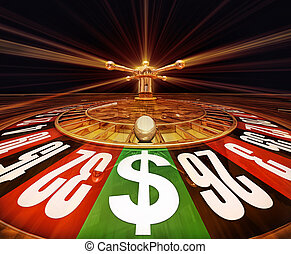 jackpot - high resolution 3D rendering of a roulette