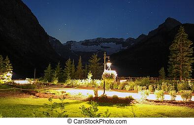 Lake Louise at Night