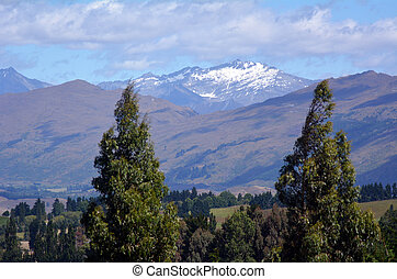 Otago - New Zealand - Landscape of the Coronet Peak Mountain...