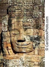 stone face at Angkor Wat