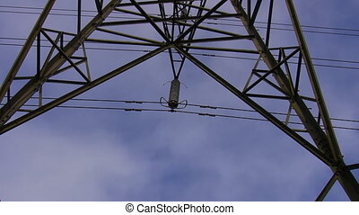 High voltage electricity detail - High voltage transmission...