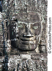 stone face in Angkor Wat